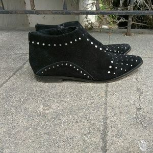 Free People Studded Suede Ankle Boots